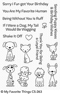Happymade - My Favorite Things clear stamp set - Puppy Kisses (CS-263)